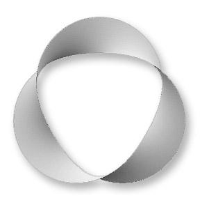 Tri-mobius knot