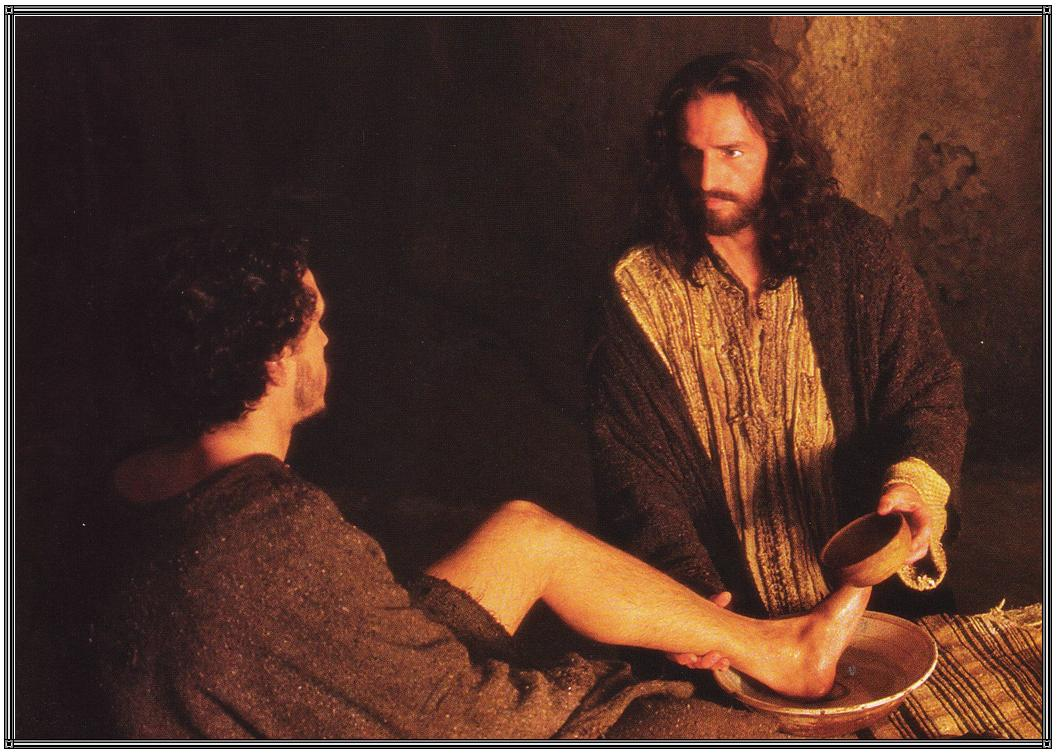 Christ washes feet